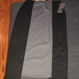 Black and grey pull on skirt